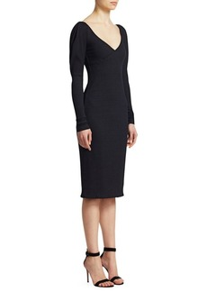A.L.C. Dafne Ribbed Sheath Dress