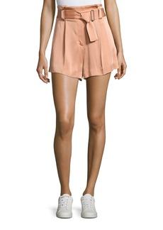 A.L.C. Deliah High-Waist Sateen Shorts