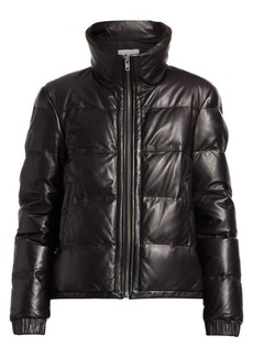A.L.C. Denver Leather Quilted Puff Jacket