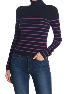 A.L.C. Desi Striped Turtleneck Wool Blend Sweater
