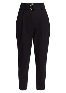 A.L.C. Diego High-Waist Belted Ankle Pants