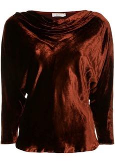 A.L.C. draped crushed velvet top