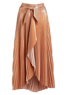 A.L.C. Eleanor Pleated Asymmetric Midi Skirt