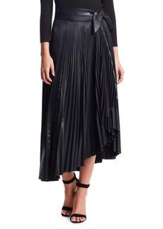 A.L.C. Eleanor Pleated Asymmetric Midi Skirt