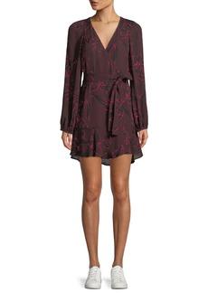 A.L.C. Embry Floral-Print Silk Mini Wrap Dress