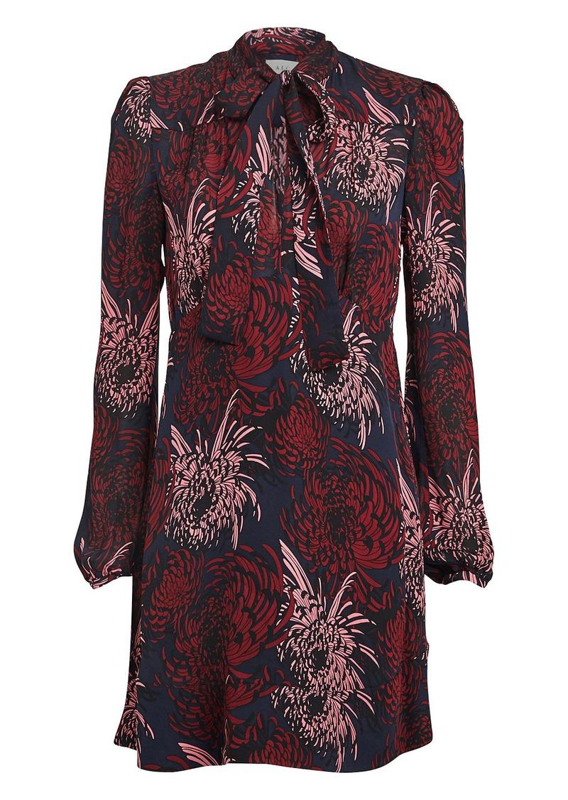 A.L.C. Emery Floral Silk Mini Dress