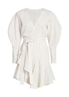 A.L.C. Enzo Puff-Sleeve Wrap Dress