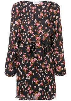 A.L.C. floral wrap mini dress