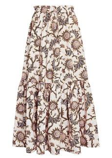 A.L.C. Francis Floral Poplin Maxi Skirt
