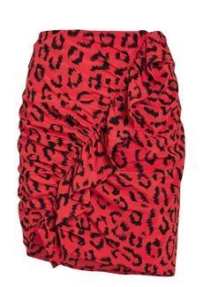 A.L.C. Geller Leopard Mini Skirt
