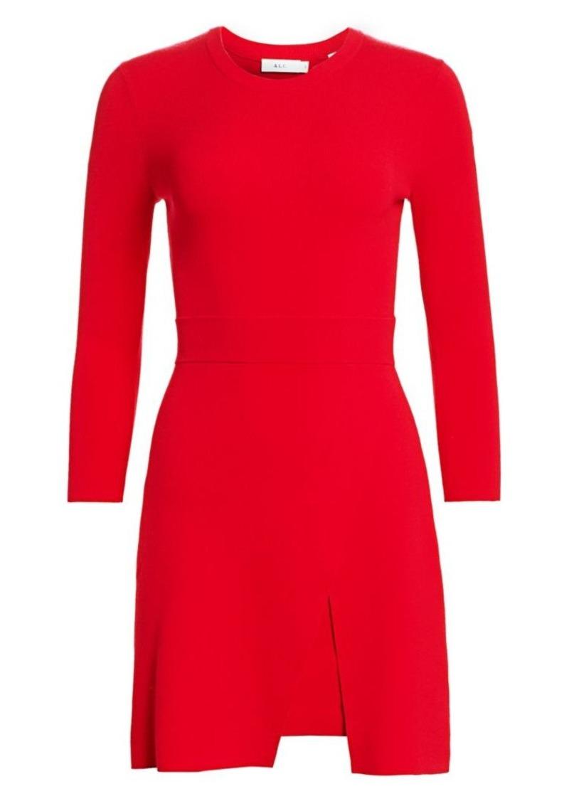 A.L.C. Hadley Front Slit Knit Sheath Dress