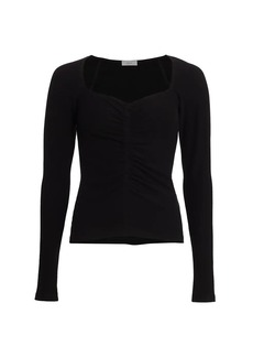 A.L.C. Halley Ruched Long-Sleeve T-Shirt