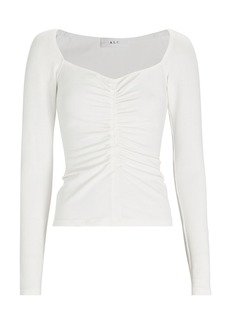 A.L.C. Halley Ruched Long Sleeve T-Shirt
