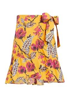 A.L.C. Hampton Floral Mini Wrap Skirt
