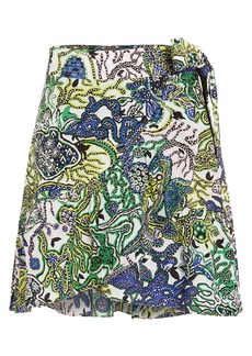 A.L.C. Hampton Ruffled Cotton & Silk Skirt