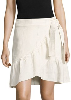A.L.C. Hampton Ruffled Linen & Silk Skirt