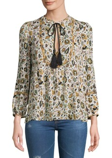 A.L.C. Hari Floral Cotton Top