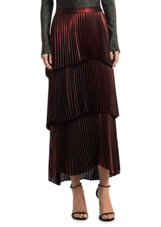 A.L.C. Harley Tiered Metallic Maxi Skirt