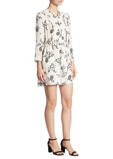 A.L.C. Hazel Paisley-Print Silk Dress
