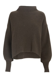 A.L.C. Helena Funnel Neck Rib Knit Sweater