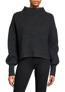 A.L.C. Helena Mock-Neck Lambswool Sweater
