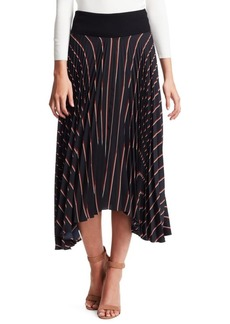 A.L.C. Henry Stripe Pleated Skirt