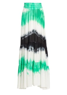 A.L.C. Hopkins Tie-Dye Silk Maxi Skirt