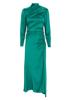A.L.C. Isabella Silk High Neck Midi Dress