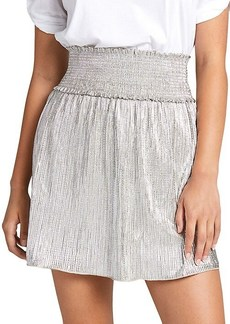 A.L.C. Isla Metallic Smocked Skirt