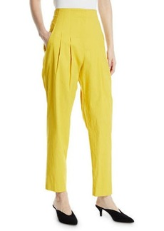 A.L.C. Jackson Pleated High-Rise Linen Pants
