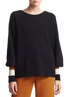 A.L.C. Jasper Stripe Trim Knit