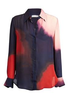 A.L.C. Jayne Tie-Dye Silk Blouse