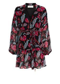 A.L.C. Jen Printed Silk Mini Dress
