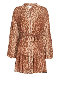 A.L.C. Jen Silk Leopard Mini Dress