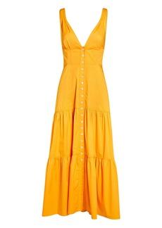 A.L.C. Jordyn Poplin Button-Down Midi Dress