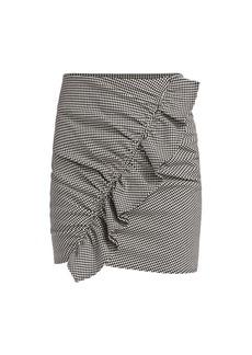 A.L.C. Jupiter Houndstooth Ruffled Mini Skirt