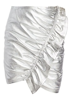 A.L.C. Jupiter Metallic Leather Mini Skirt