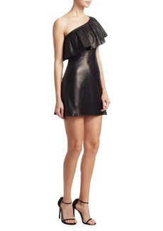 A.L.C. Kahlo One-Sleeve Leather Dress
