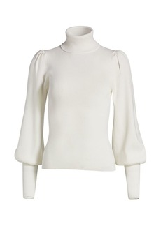 A.L.C. Karla Lantern-Sleeve Sweater