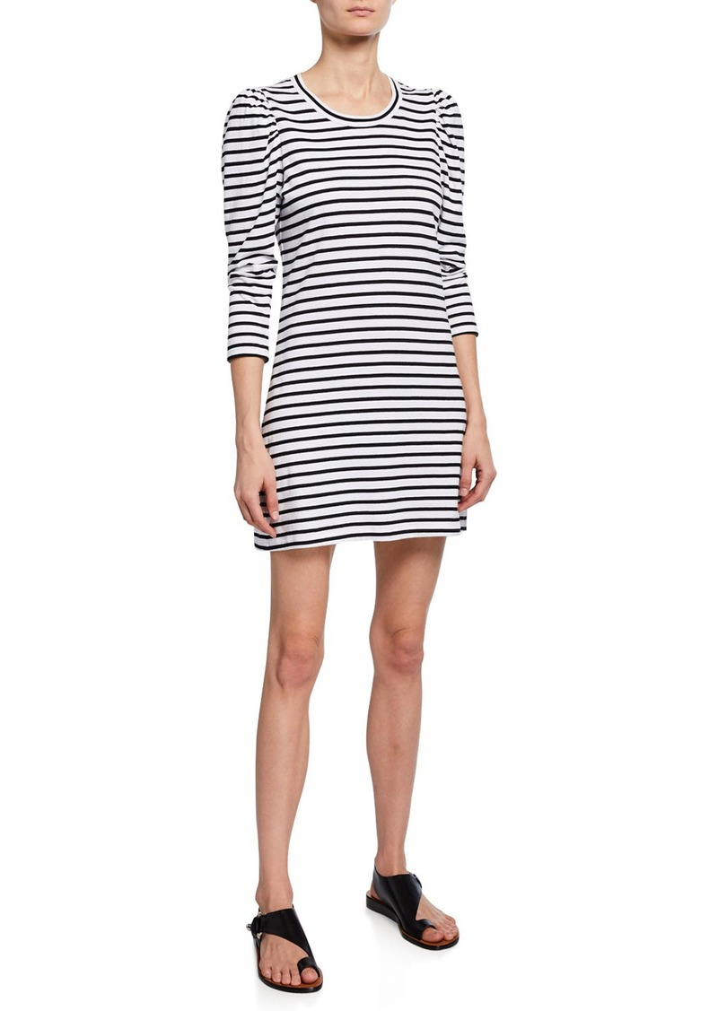 A.L.C. Kidman Striped 3/4-Sleeve Cotton Dress
