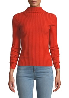 A.L.C. Lamont Fitted Wool Turtleneck Sweater