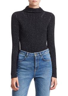 A.L.C. Lamont Lurex Rib Knit Sweater