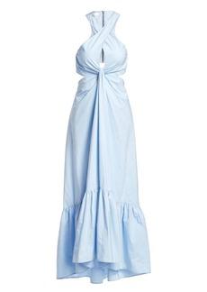 A.L.C. Lansbury Cut-Out Halter Maxi Dress