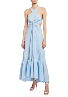 A.L.C. Lansbury Cutout Halter Maxi Dress