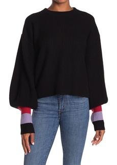 A.L.C. Lansing Colorblock Cuff Sweater