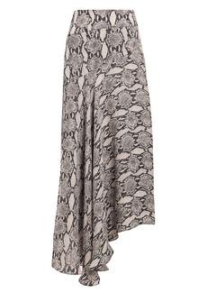 A.L.C. Lev Snake Print Midi Skirt