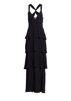 A.L.C. Lita Silk Tiered Ruffle Maxi Dress