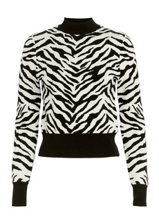 A.L.C. Lola Zebra Mock Neck Sweater