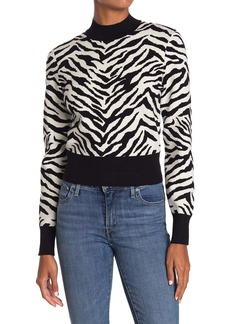 A.L.C. Lola Zebra Stripe Crop Sweater