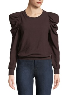A.L.C. Loma Puff-Sleeve Pullover Sweatshirt